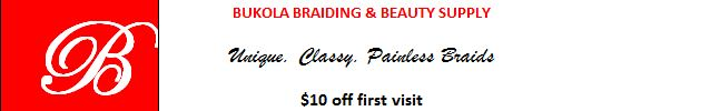 Bukola Braiding $10 off coupon